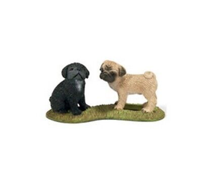 Schleich Farm Life Dogs - PUG PUPPIES 16383 - New with Tag - Retired