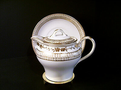 Nippon White Hand painted Raised Gold Creamer or Syrup Pitcher lid Underplate