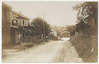 RPPC Street View MAUSDALE PA Danville Montour Pennsylvania Real Photo Postcard