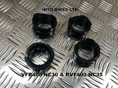 Brand New For Honda Vfr400 Nc30 Carb Intake Inlet Rubbers To Cylinder Head Set