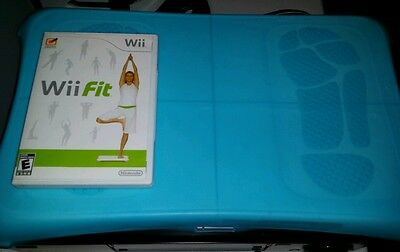 Nintendo Wii Fit With Balance Board Game Lot Video GAME WII BUNDLE & BLUE SLEEVE