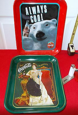 SET OF TWO (2) LATE 20TH. CENTURY COCA-COLA  COLLECTOR TRAYS...SUPERB !!!!!
