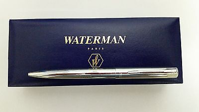 Waterman Paris silver Rollerball Pen blue stainless with BOX  success in Hebrew