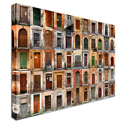 Old doors in Rome Canvas Art Cheap Wall Print Home Interior