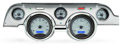 1967- 68 Ford Mustang VHX Instruments (Silver Alloy Red)
