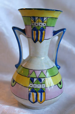 MADE IN JAPAN GOLD CASTLE BOHO HAND PAINTED AMPHORA - VASE