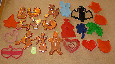 #4 COPPER Cookie Cutters &Others GINGER BREAD, XMAS, HALLOWEEN