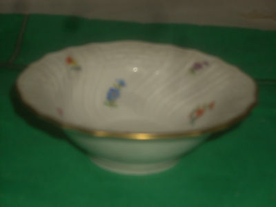 """Meissen fine china 1-candy dish hand painted new in perfect condition 4 1/2""""dia"""