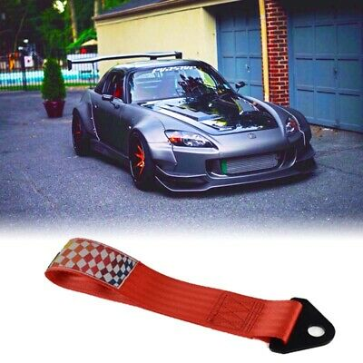 Red Racing Tow Strap For Towing Jdm/usdm/kdm 10,000 Lb Rati