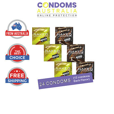Four Seasons Banana Flavoured 12 Condoms & Naked Chocolate 12 FREE SHIPPING