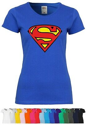 M91 F288N Damen T-Shirt mit Motiv Superman | Comic Superheld Fun Design Party