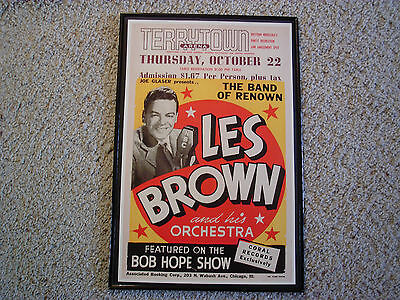 LES BROWN AND HIS ORCHESTRA , BIG BAND POSTER - 1952