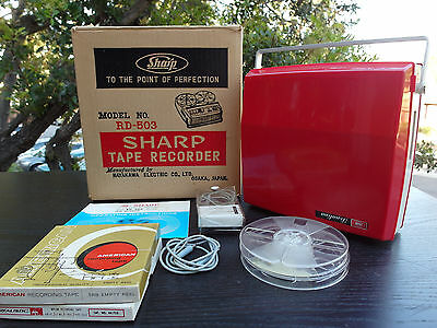 Vintage SHARP RD-50 Reel to Reel Tape Recorder Player Tested Free Shipping