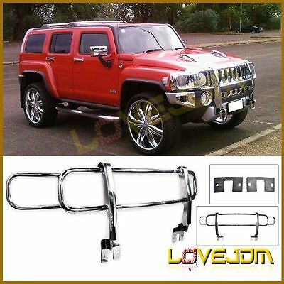 Fit 06-10 Hummer H3 Front Brush Grill Guard Polished Chrome
