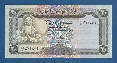 YEMEN ARAB REPUBLIC -- 20 RIALS ND ( 1990 ) -- UNC -- PICK 26b .