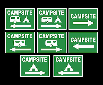 Campsite Sign Various Types Direction To Campsite - In Pvc Large Waterproof
