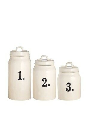 MAGENTA RAE DUNN  ~ Number 1.2.3 Canisters