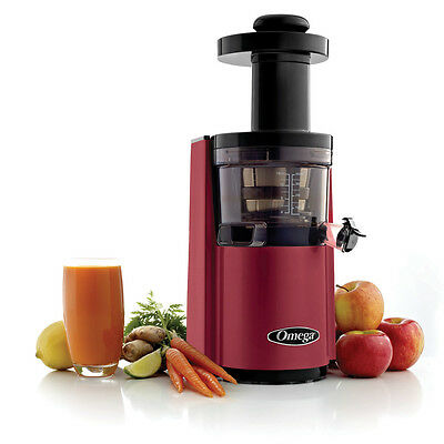 Omega Vert Round Upright Juicer-Vsj843Rr-Upright Juice Extractor Machine - Red