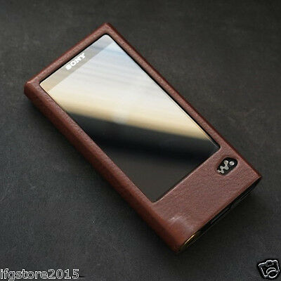 New Dignis Genuine Leather Sony NW-ZX2 Case + Strap Brown for Sony NW-ZX2  ZX2