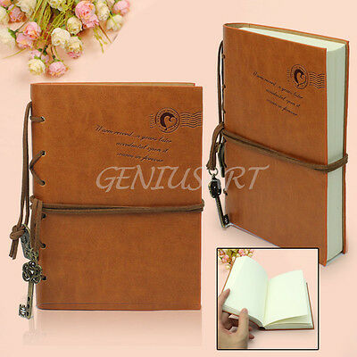 Vintage Magic Key String Retro Leather Note Book Diary Journal Retro Notebook