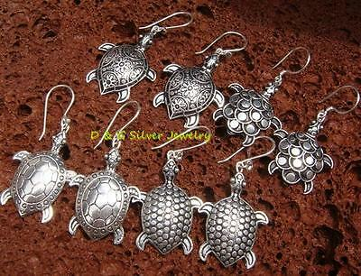 4 x Wholesale Sterling Silver Turtle Earrings SSB-313-DG