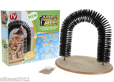 Massaging Grooming Arch Bristles Scratching Self Groomer Cats Kittens Cat Nip