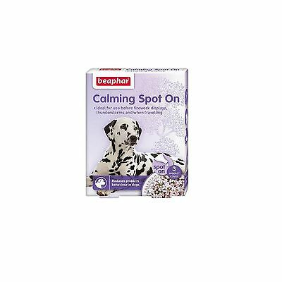 Beaphar Calming Spot on drops for dog reduces anxiety noise phobia firework fear
