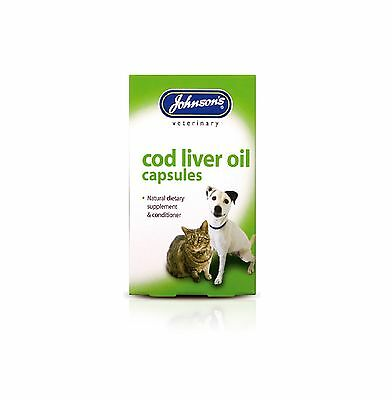 Johnson's Cod Liver 40 Tablets for Cats and Dogs-Posted Today if Paid Before 1pm