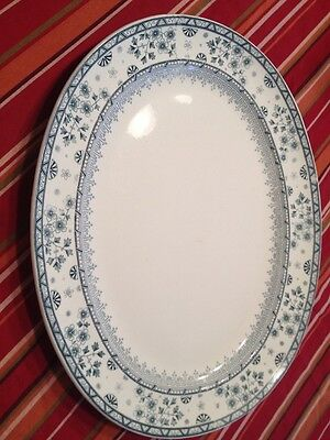 "ANTIQUE 1881-1900 MINTONS OAKELEY BLUE  LG PLATTER 19.25"" X15.25"" VERY RARE"