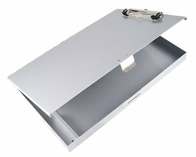 Saunders Recycled Aluminum Tuff-Writer Storage Clipboard, Letter Size, Silver, 1