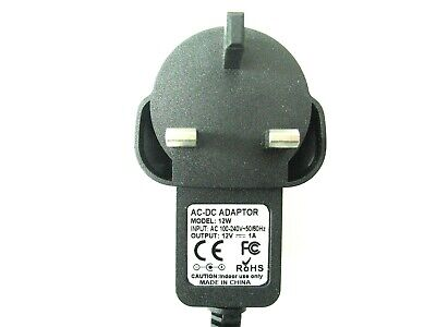 Ac/dc Uk Mains Power Adaptor/supply/charger 1000Ma/1A 12V (Ride On Childs Car)