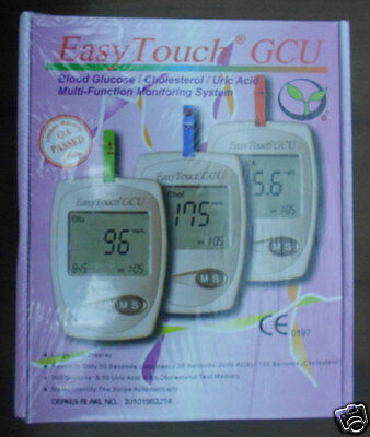 EasyTouch for Glucose, Cholesterol, Uric Acid 3 in 1 meter Monitoring system