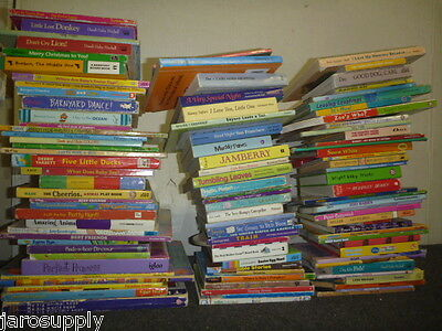 Lot of 10 MINI SMALL Board Hard Picture Day Care Kid Children Books MIX UNSORTED