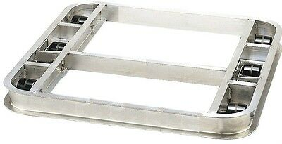 """Flat Reinforced Pallet Dollie 42""""x42"""" with 6 Rollers 4000 lb. & Handle SHIPS FRE"""