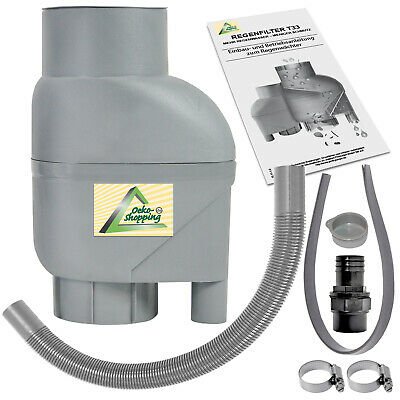 Water Butt Diverter Rainwater Filter Filling Downpipe Self Cleaning Water Filter