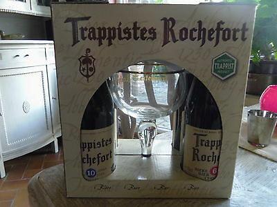 Trappist Trappiste Biere Bier ROCHEFORT 4 bout. 33cl 10-6-8° + verre. Abbaye