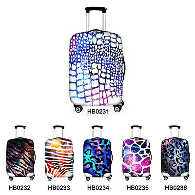 Elastic Thick Zipper Travel Luggage Suitcase Protective Cover 18 20 24 26 28 30