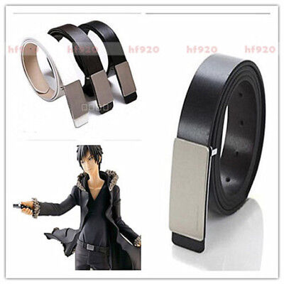 DuRaRaRa!!  Orihara Izaya Cosplay Costumes Brown Kit White waistband Black Belts