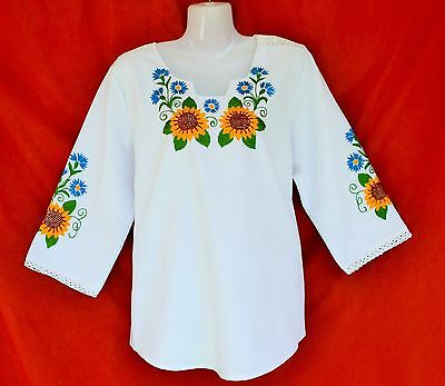 Hand Embroidered Women's Blouse S/M