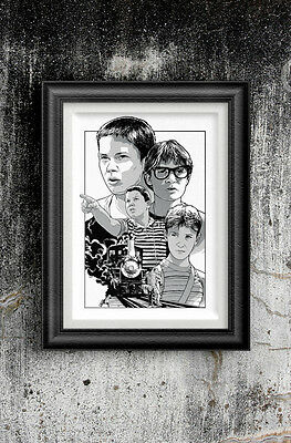 Stand By Me Art Print by Hatch For Kids - Movie 80's Screen Print River Corey