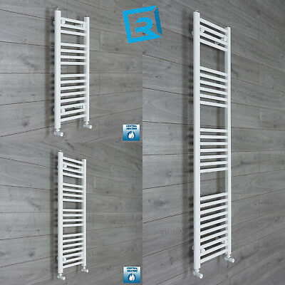 350 mm Wide White Ladder Heated Towel Rail Radiator Designer Bathroom Narrow