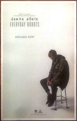 DAMON ALBARN Everyday Robots Ltd Ed Discontinued RARE New Poster! GORILLAZ BLUR