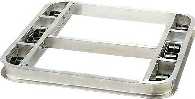 """Reinforced Flat Style Pallet Dollie 48"""" x 48""""  8 Rollers 6,000lbs. ---FREE SHIPP"""