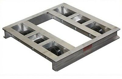 """Flat Aluminum Pallet Dollie 48"""" x 42"""" -- 8 Rollers 6,000# Cap **FREE SHIPPING**"""