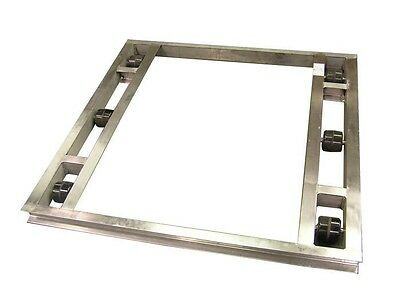 """Flat Aluminum Pallet Dollie 48"""" x 48"""" -- 6 Rollers 4,000# Cap **FREE SHIPPING**"""