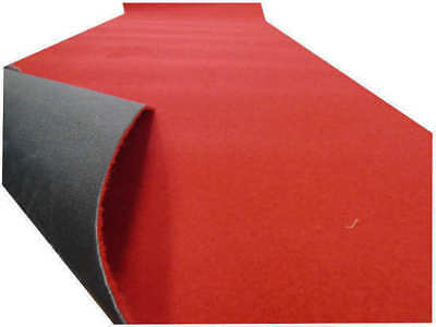 PARTY RED Wedding Carpet Runner 130cm(w) Rubber Backed p/metre M/Seconds