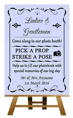 Lilac Photo Booth Personalised Wedding Sign / Poster