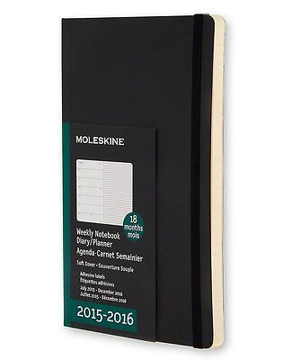 2016 Moleskine Pocket Weekly Notebook 18 Month Diary BRAND NEW 8052204400126 rm
