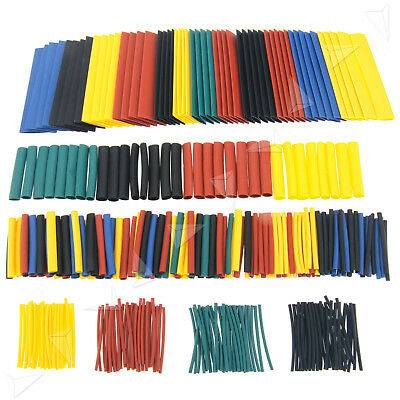 328PCS Heat Shrink Heatshrink Wire Cable Tubing Tube Sleeving Sleeve Wrap Kit AU