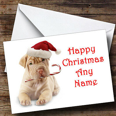 Stunning Dog Christmas Greetings Card Personalised